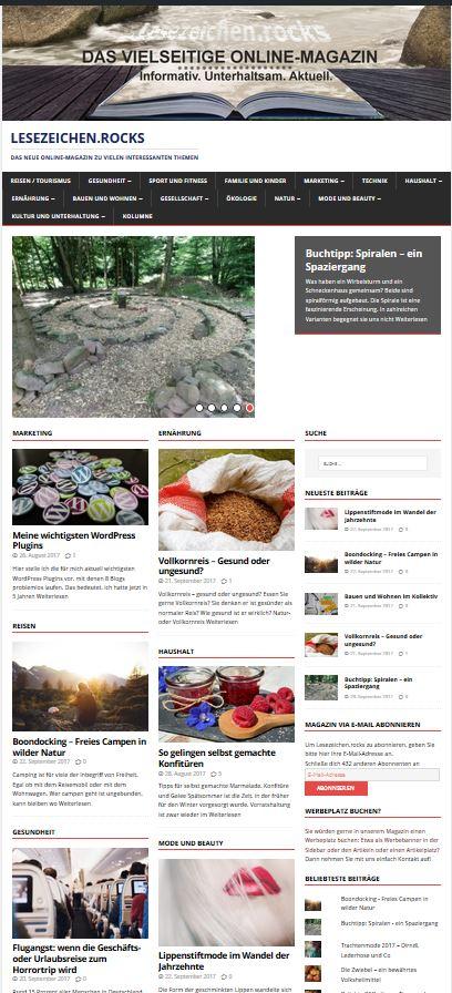 Neues Magazin rockt das Internet: Lesezeichen.rocks!
